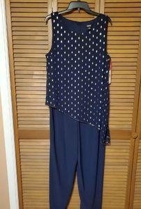 SLNY Navy Dressy Jumpsuit size 14W